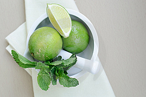 Limes And Mint Royalty Free Stock Photo - Image: 19832825