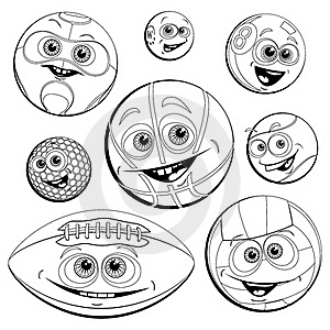 Funny Balls(Coloring) Royalty Free Stock Images - Image: 19833619