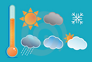 Weather Icon Set Stock Image - Image: 19838161