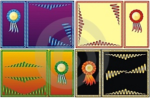 Four Set Of Color Serpentine Border Royalty Free Stock Photo - Image: 19840435