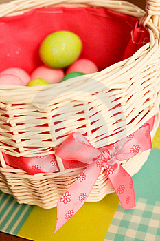 Easter Eggs In Basket Stock Images - Image: 19840514