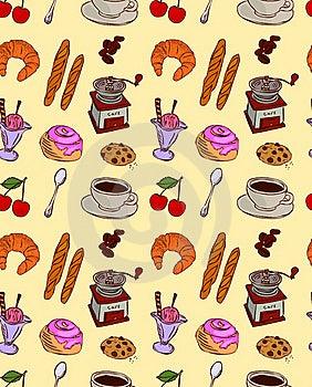 Cafe Food Pattern Stock Image - Image: 19842131