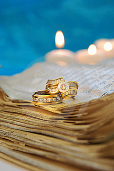Wedding Rings On A Book Royalty Free Stock Photography - Image: 19842257