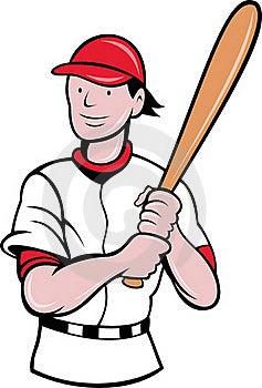 Baseball Player Batting Cartoon Stock Photography - Image: 19842812