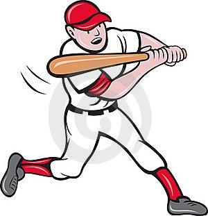 Baseball Player Batting Cartoon Royalty Free Stock Images - Image: 19842819