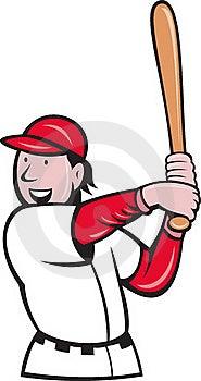 Baseball Player Batting Cartoon Stock Photography - Image: 19842822