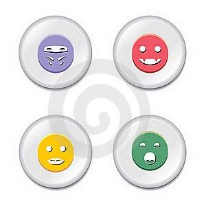Smiley Badge Set Stock Photos - Image: 19842883