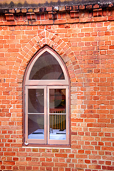 Window In A Red Brick Wall Royalty Free Stock Photos - Image: 19843558