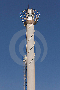 Smokestack Against A Blue Sky Stock Images - Image: 19843804