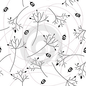 Seamless Pattern Of Branch Stock Photo - Image: 19844200