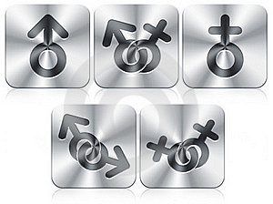Gender Icons Royalty Free Stock Image - Image: 19845516