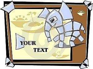 Mosaic Elephant Running Royalty Free Stock Image - Image: 19845846