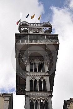 Elevator De Santa Justa Lisbon Stock Photos - Image: 19849763