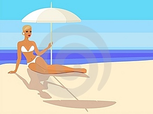 Girl On The Beach Royalty Free Stock Images - Image: 19850149