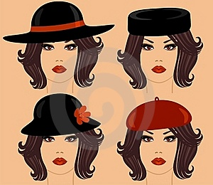 Hairstyles And Accessories Stock Image - Image: 19850181