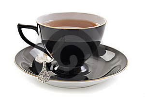 Black Tea Cup On White Royalty Free Stock Images - Image: 19850269