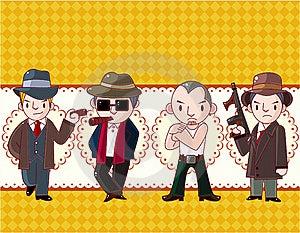 Cartoon Mafia Card Royalty Free Stock Photo - Image: 19854875