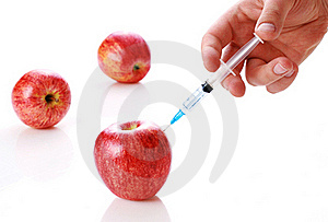 Apple And Syringe Stock Photography - Image: 19857232