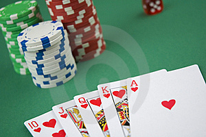 Poker Royal Flush Royalty Free Stock Photo - Image: 19857245