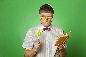 Young Man Bookworm Reading Stock Photos - Image: 19867983