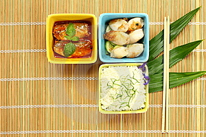 Cooked Rice With Fish In Sauces And Cuttlefish Stock Image - Image: 19870361
