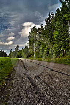 Road With Car Tracks Royalty Free Stock Photo - Image: 19871835