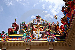 Hindu Statutes In Singapore Royalty Free Stock Photos - Image: 19871948