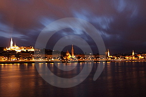 Stormy Budapest Royalty Free Stock Image - Image: 19872456