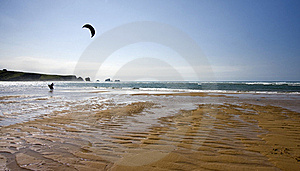Lone Kitesurfing Royalty Free Stock Photography - Image: 19874957
