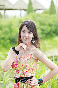 Asia Summer Girl Outdoor Stock Photography - Image: 19875322