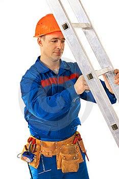 Worker Repairing Step Stock Images - Image: 19877204