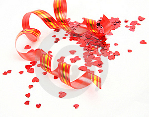 Streamer And Confetti Stock Image - Image: 19878001