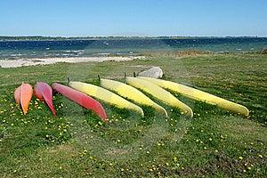 Kayaks Ready To Sail - Sea Sport Background Stock Photo - Image: 19878020