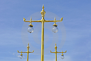 Golden Thai Street Lamp Royalty Free Stock Images - Image: 19878369