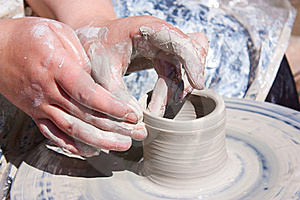Pottery Wheel Royalty Free Stock Images - Image: 19878779