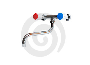 Faucet On White Stock Image - Image: 19879381