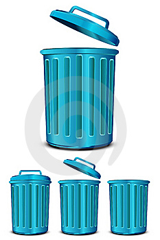 Blue Steel Garbage Royalty Free Stock Images - Image: 19879739