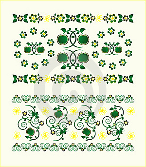 Horizontal Ornament With Flower Royalty Free Stock Photo - Image: 19880275