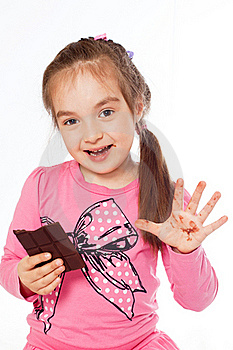 Girl Eating Chocolate Royalty Free Stock Photos - Image: 19881408