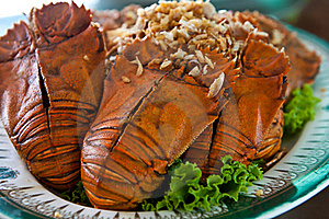 Fired Mantis Shrimp Stock Image - Image: 19881551