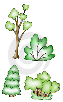 Trees And Shrubs. Stock Image - Image: 19882261