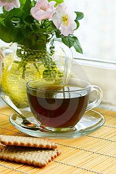 Tea With Dog-rose Blossom Stock Photos - Image: 19882513