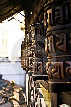 BUDDHIST PRAYER WHEELS Royalty Free Stock Images - Image: 19884359
