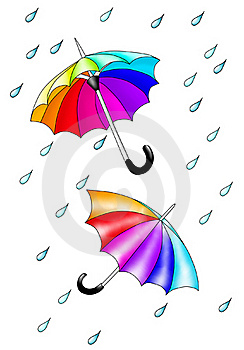 Colored Umbrellas. Royalty Free Stock Images - Image: 19886119