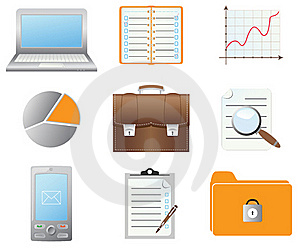 Set Of Icons Royalty Free Stock Image - Image: 19887546