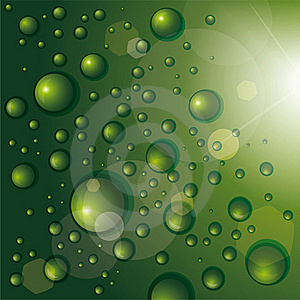 Background With Shiny Drops Stock Image - Image: 19888231