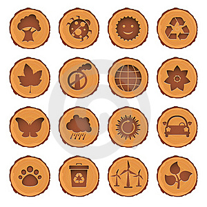 Eco And Environment Icons Set Royalty Free Stock Photo - Image: 19889055