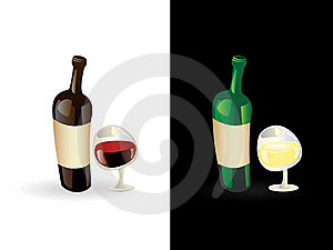 Vin Rouge Et Blanc Photos stock - Image: 19890323