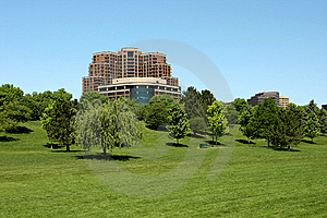 Highrise And Large Green Space Stock Images - Image: 19890364