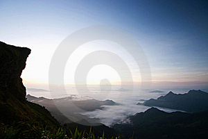 Beautiful Sea Of Fog In Thailand Royalty Free Stock Photo - Image: 19890535
